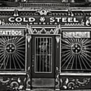 Cold Steel Bw Art Print