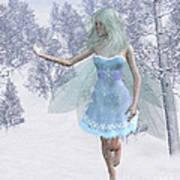 Cold Winter Fairy Art Print