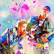 Coldplay Print by Rosalina Atanasova