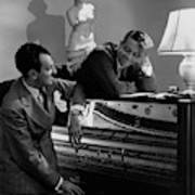 Cole Porter And Moss Hart At A Piano Art Print