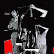 Collage Body Talk Poster Prize Jello Wrestling Contest Gay Bar Tucson Arizona 1992 Art Print