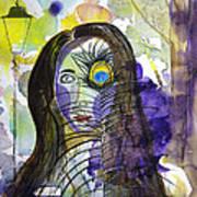 Collage Girl Art Print