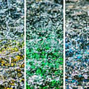 Collage Liquid Rainbow 1 - Featured 3 Art Print