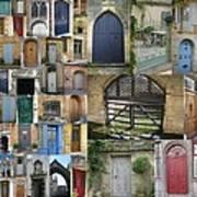 Collage Of Doors Art Print