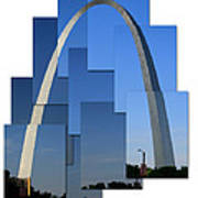 Collage Of St Louis Arch Art Print