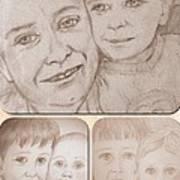 Collage Portraits Art Print