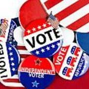Collection Of Vote Badges Art Print by Joe Belanger
