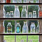 Collector - Bottles - Milk Bottles  Print by Mike Savad