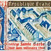 College Of St. Barbe 1460-1960 Half A Millennium Art Print