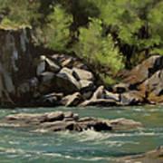 Colliding Rivers Art Print