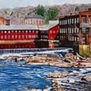 Collinsville Axe Factory Art Print by Sharon Farber