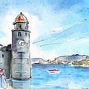 Collioure Tower Art Print