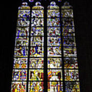 Cologne Cathedral Stained Glass Window Of St Peter And Tree Of Jesse Art Print