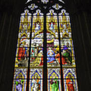 Cologne Cathedral Stained Glass Window Of The Adoration Of The Magi Art Print