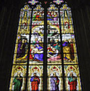 Cologne Cathedral Stained Glass Window Of The Lamentation Art Print