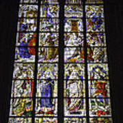 Cologne Cathedral Stained Glass Window Of The Three Holy Kings Art Print