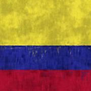 Colombia Flag Art Print