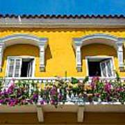 Colonial Balcony In Cartagena Art Print