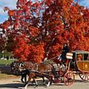 Carriage In Autumn Art Print