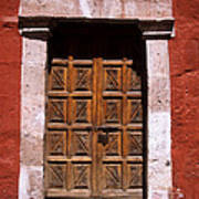 Colonial Door Arequipa Peru Art Print