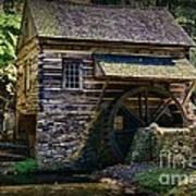 Colonial Grist Mill Art Print