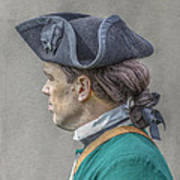 Colonial Soldier Green Jacket Portrait Art Print