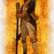 Colonial Soldier Photo Art  Art Print by Thomas Woolworth