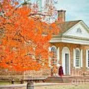 Colonial Williamsburg Courthouse Art Print