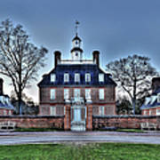 Colonial Williamsburg Governor's Palace Moonrise Art Print