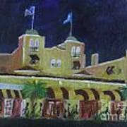 Colony Hotel At Night. Delray Beach Art Print