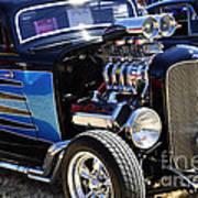 Color Chrome 1932 Black Ford Coupe Art Print