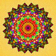 Color Circles Kaleidoscope Art Print