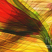 Color Flow Art Print by Hilda Lechuga