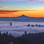 Color Fog Mountain Art Print