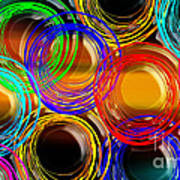 Color Frenzy 1 Art Print by Andee Design