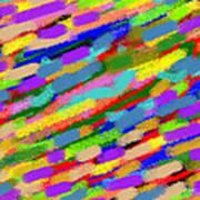 Color Hatch Highway Art Print