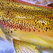 Color Me Trout- Brown Art Print
