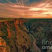 Color Of The Grand Canyon South Rim V8 Art Print