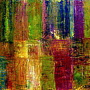 Color Panel Abstract Art Print by Michelle Calkins