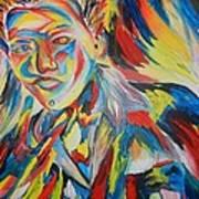 Color Portrait Art Print by Juan Molina