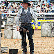 Color Rodeo Shootout Gunslinger Art Print
