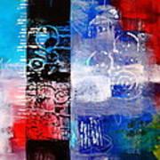 Color Scrap Art Print by Nancy Merkle