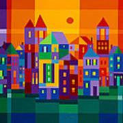 Color Town Art Print
