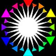 Color Wheel Burst Art Print