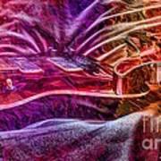 Color Wheel Digital Guitar Art By Steven Langston Art Print