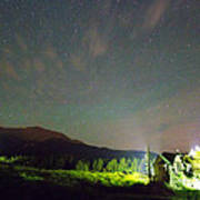 Colorado Chapel On The Rock Dreamy Night Sky Art Print
