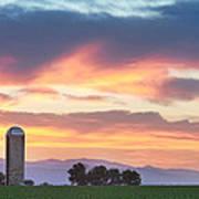 Colorado Farmers Sunset Art Print