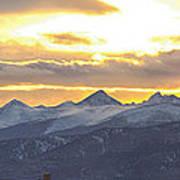 Colorado Front Range Panorama Gold Art Print