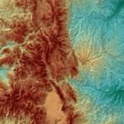 Colorado Map Art Art Print