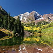 Colorado Maroon Bells Art Print